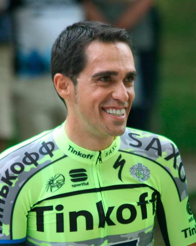 Foto de y ciclista Alberto Contador