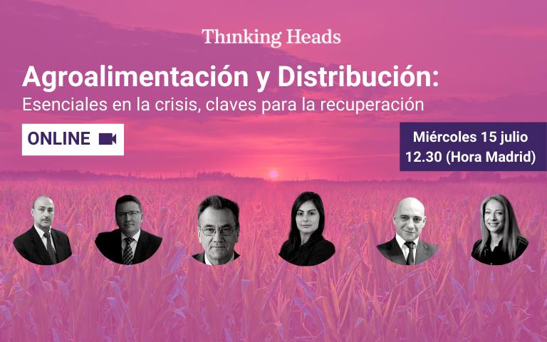 Banner del webinar sobre la recuperación del sector de la Agroalimentación